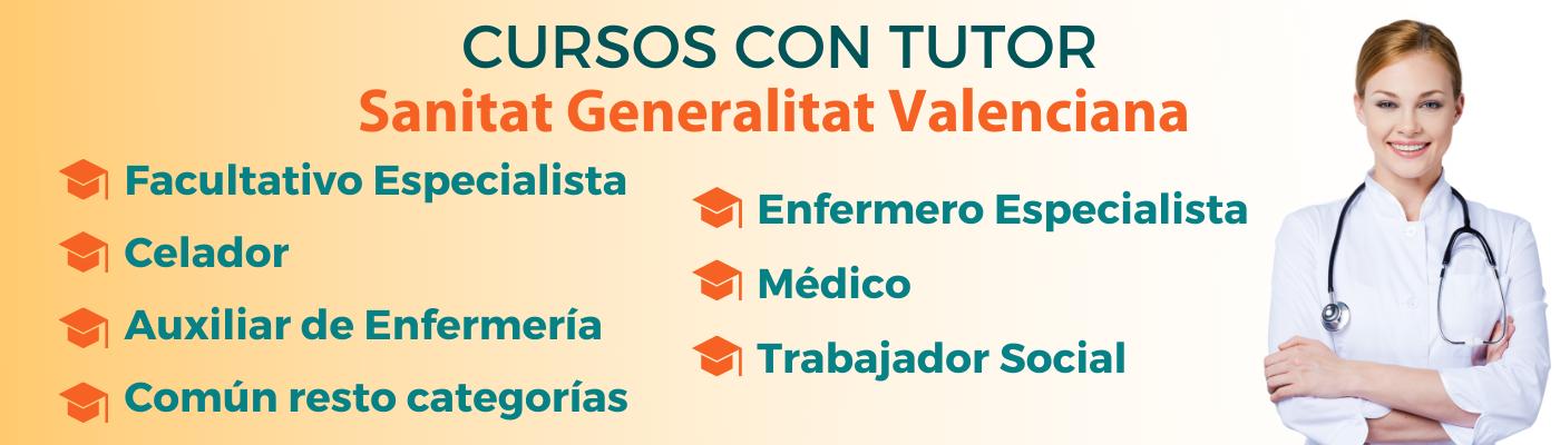 Prepárate con nuestros cursos online tutorizados para las oposiciones de las Instituciones Sanitarias de la Generalitat Valenciana